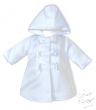 Płaszczyk z kapturem biały