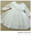 Sukienka do chrztu ecru