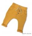 Spodnie musztardowe z dzianiny