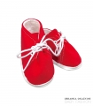 Buciki bawełniane czerwone